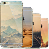 Nature Landscape Clear Phone Case for iPhone 6 / 5 Models