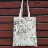 Floral Cotton Linen Shopping Bag Tote Shoulder Bag