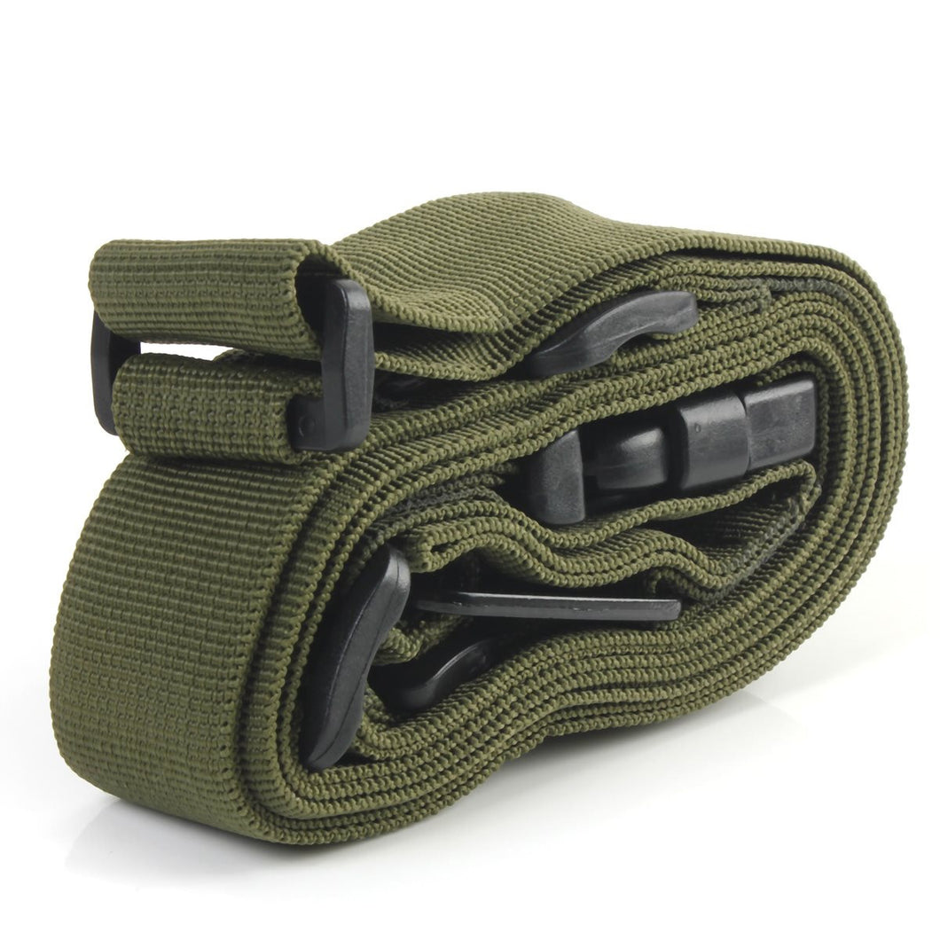 High quality Three Point Rifle Sling Adjustable Bungee Tactical Airsoft Gun Strap Paintball Gun Sling for hunting Army Green