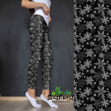 Snowflakes - Yoga Waist Leggings