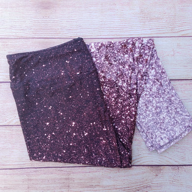 Ombre Glitter - Yoga Waist Leggings