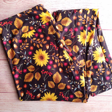 Fall Sunflowers - Yoga Waist Leggings