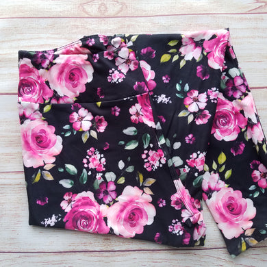 Roses - Yoga Waist Leggings