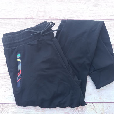 Solid Black with Pocket Detail - Jogger