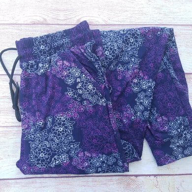 Purple Floral Outline - Jogger
