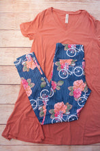 Rose and Bicycle Leggings with Secret Pocket - CLEARANCE
