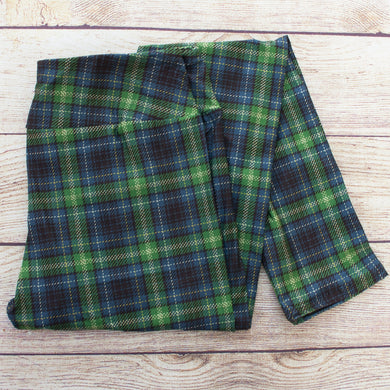 Tartan Plaid - Yoga Waist Leggings - CLEARANCE