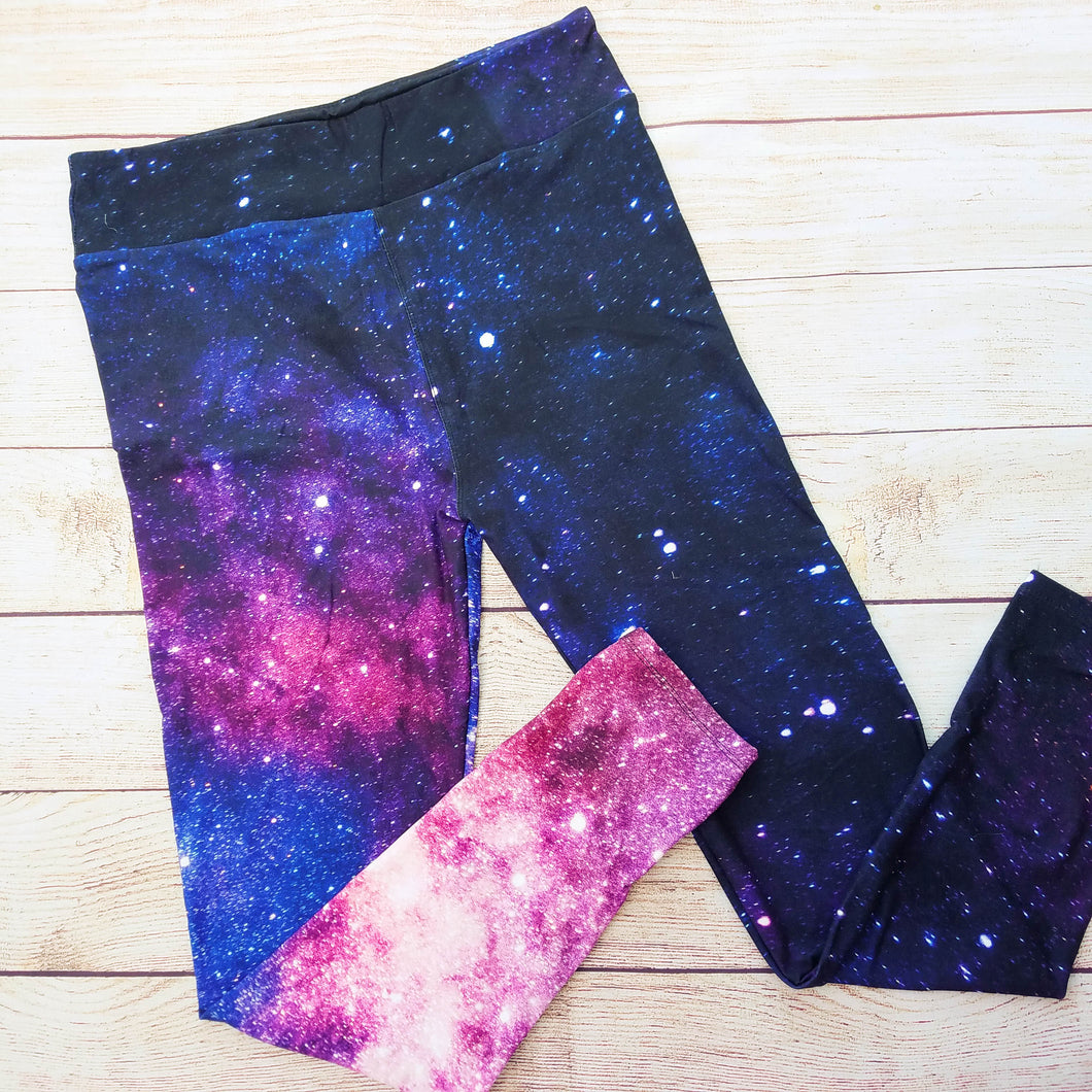 Infinite Galaxy - Yoga Waist Leggings - CLEARANCE