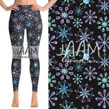 Watercolor Snowflake - Yoga Waist Leggings