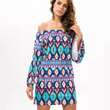 Bold Print Party Dress