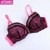 Lace underwire push up bra