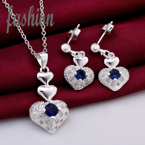 Silver Plated Heart set