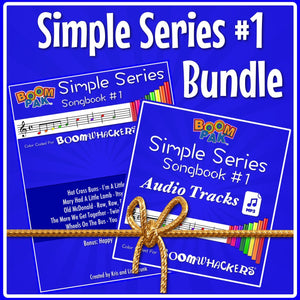 Simple Series Bundle - Songbook and Audio mp3 Tracks - Boomwhackers