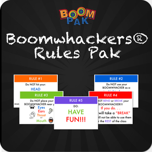 "Boomwhackers® Rules ""Pak"" for Bulletin or Smart Board Boomwhackers Music Education Resource"