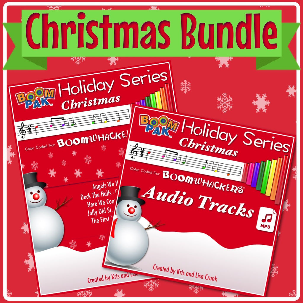 Holiday Series Christmas Bundle - Songbook and Audio mp3 Tracks - Boomwhackers