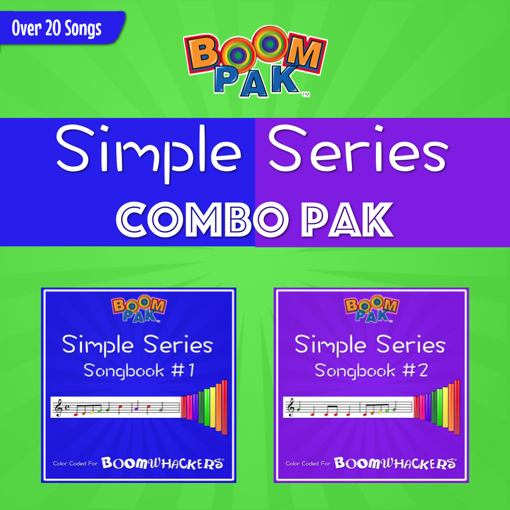 Simple Series 1&2 Combo Pak Boomwhackers Music Education Resource