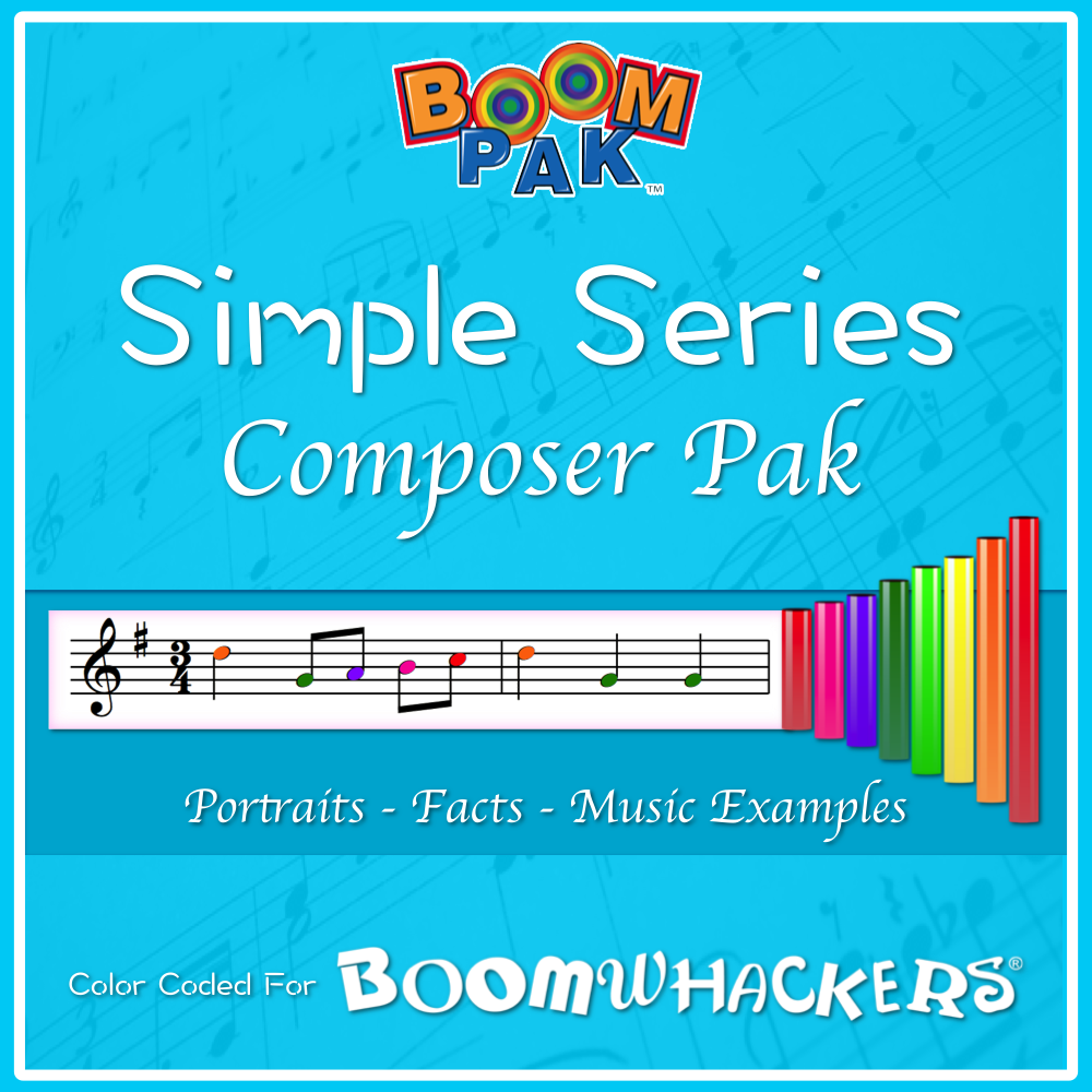 Simple Series - Composer Pak Boomwhackers Music Education Resource
