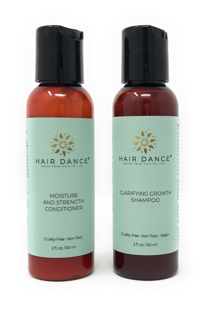 Travel-Size Clarifying Growth Shampoo and Moisture and Strength Conditioner Duo - 2 oz.