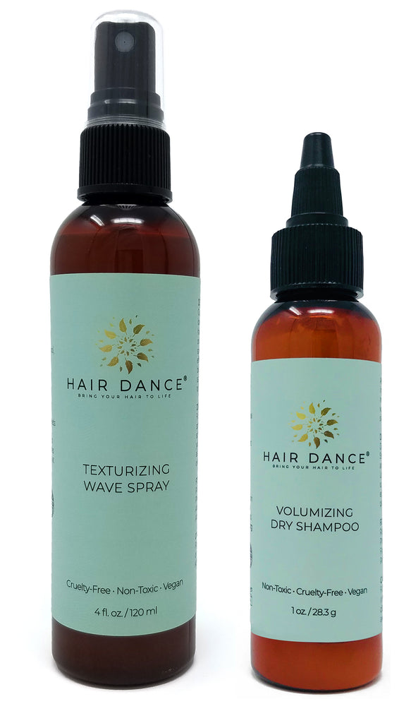 Hair Dance 2 Products Set - Lavender Scented Dry Shampoo with Lemongrass or Grapefruit Scented Sea salt Spray