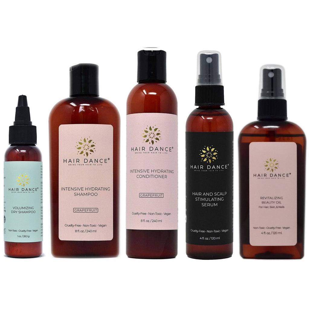 Intensive Hydrating Hair Set for Repair and Growth Support
