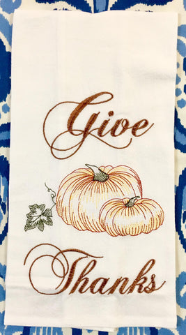 Give Thanks Flour Sack Towel