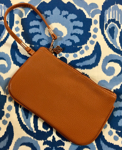 Suzanne Wristlet in Camel