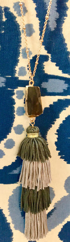 Charlene Stacked Tassel Necklace