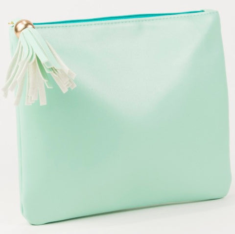 Whitney Tassel Pouch in Mint