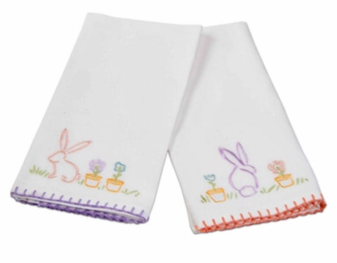 Set of 2 Easter Bunny Guest Towels