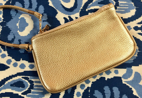 Suzanne Wristlet in Gold