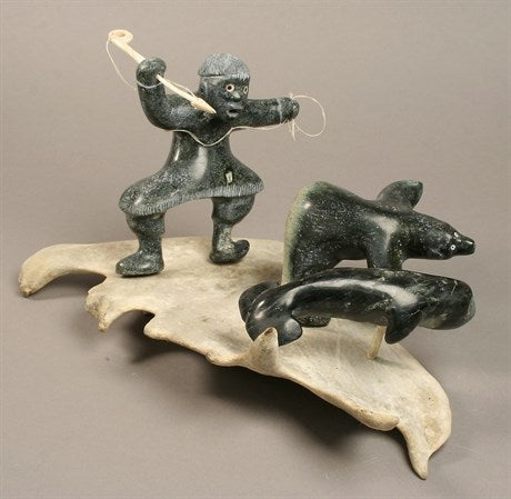 Inuk w/ Bear and Whale