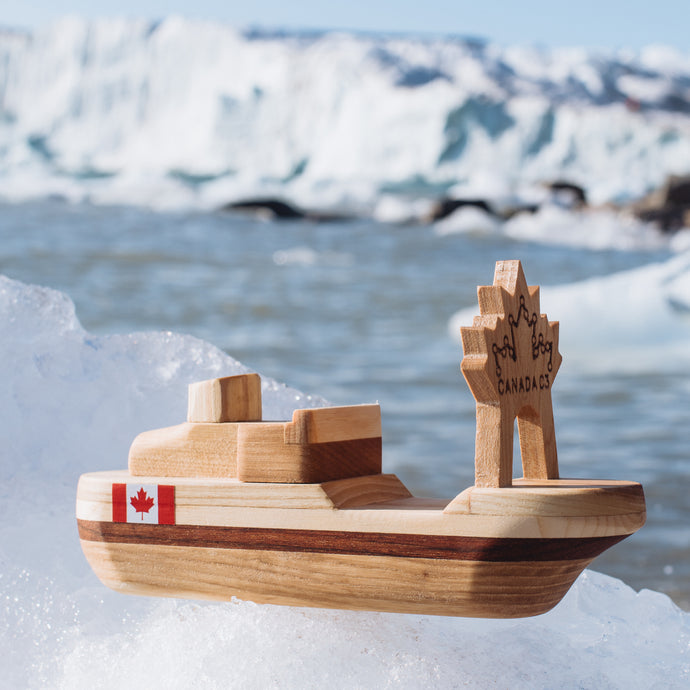 Canada C3 Wooden Toy Ship