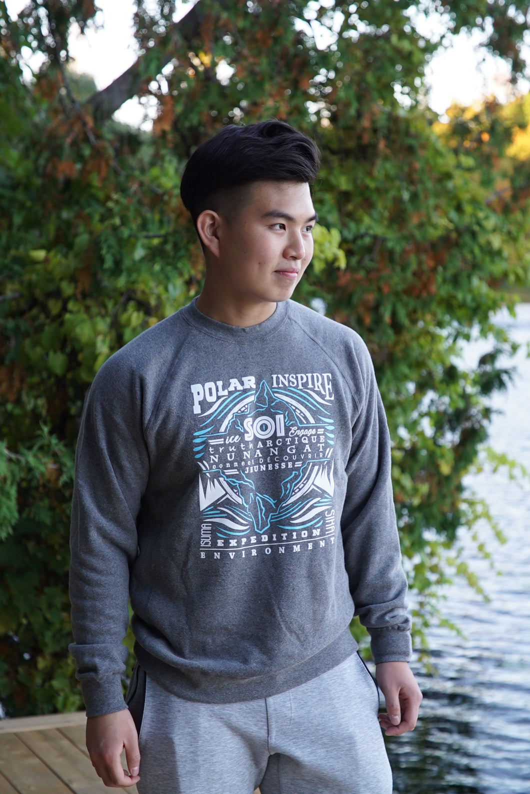 SOI Grey Crew Neck Sweater