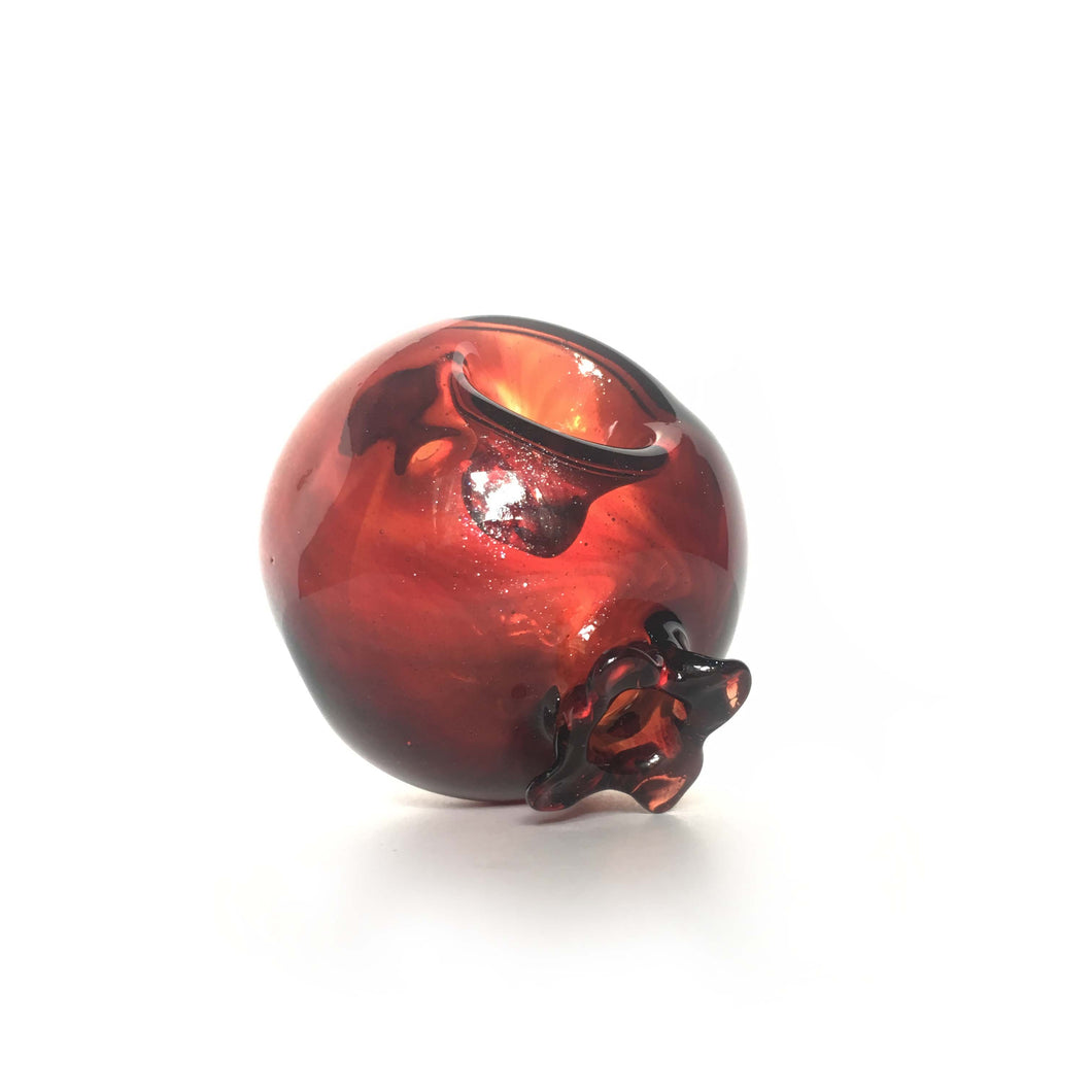 Pomegranate Fruit Handmade Borosilicate Glass Pipe