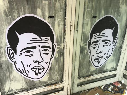 Paris mirrored wheatpaste graffiti