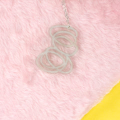 Janus clear necklace