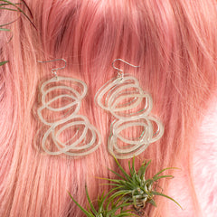 Janus Clear Earrings