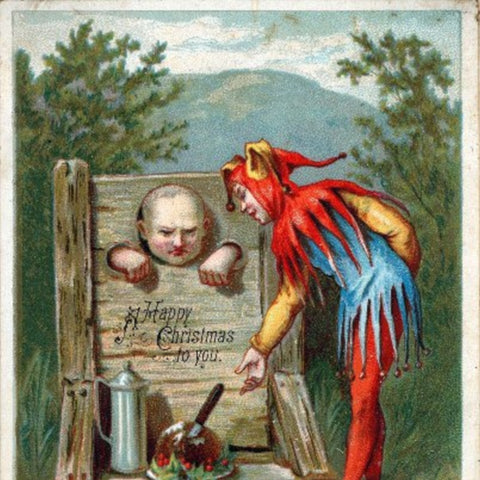 Victorian Christmas Card with Guillotine