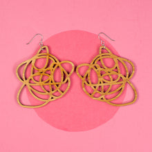 Bamboo statement earrings - Grande