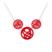 Red Three Circle Necklace by Darling Marcelle