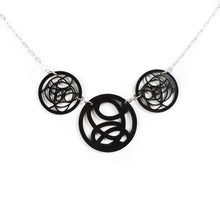 Load image into Gallery viewer, Black Circle Necklace