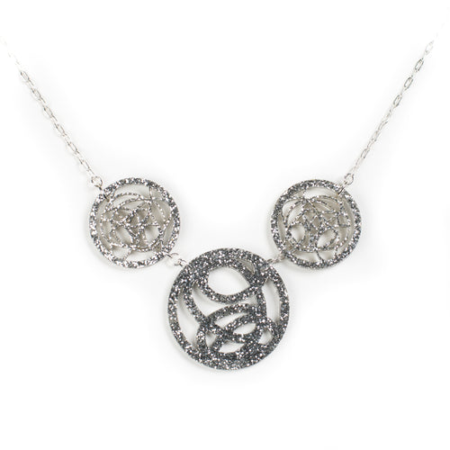 Silver Three Circle Necklace by Darling Marcelle