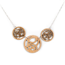 Bamboo Three Circle Necklace