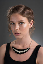 Black and White Necklace on model