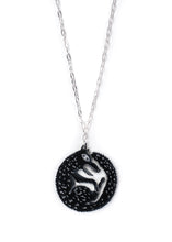 Load image into Gallery viewer, Black wolf necklace