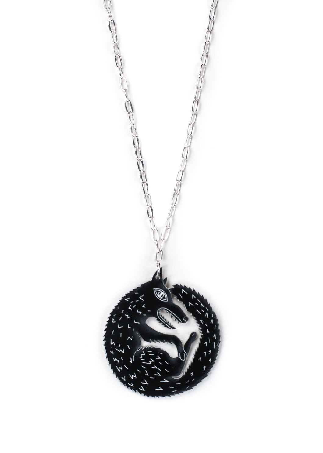 Wolf Pendant Necklace / Wolf Necklace / Animal Necklace