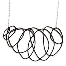 Load image into Gallery viewer, Delicate Black Statement Necklace - Scribbler