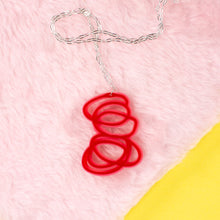 Janus Red and Pink Pendant Necklace