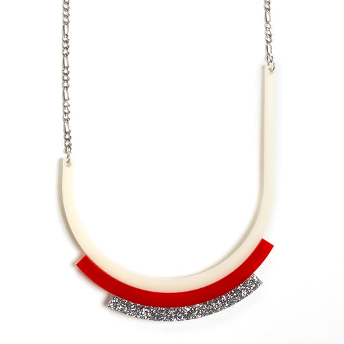 Modernismo Minimalist Necklace - Ivory
