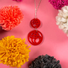 Load image into Gallery viewer, red pendant necklace